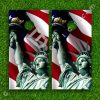 Set of 2 High Quality Laminated Cornhole Boards Wraps 24x48 inch – Statue of Liberty