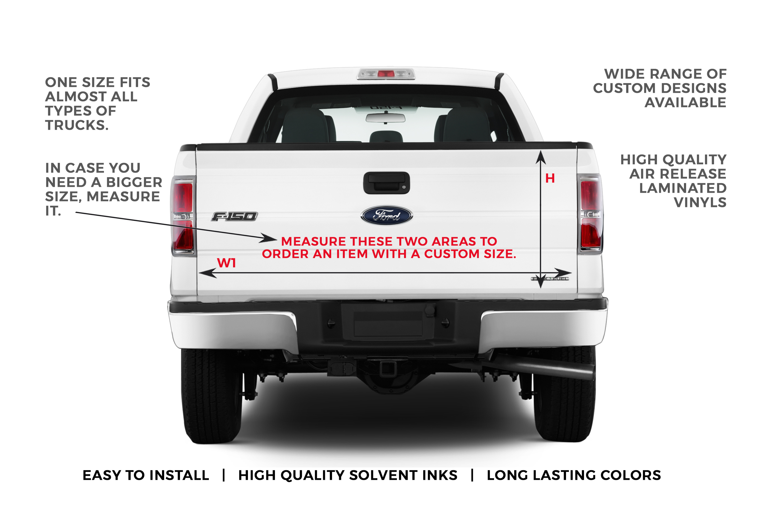 USA Independence Statue of Liberty Pick-Up Truck Perforated Rear Window Wrap