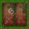 Set of 2 High Quality Laminated Cornhole Boards Wraps 24x48 inch – Old American Flag