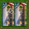 Set of 2 High Quality Laminated Cornhole Boards Wraps 24x48 inch – USA New York