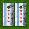 Set of 2 High Quality Laminated Cornhole Boards Wraps 24x48 inch – Chicago Brick Wall Skyline
